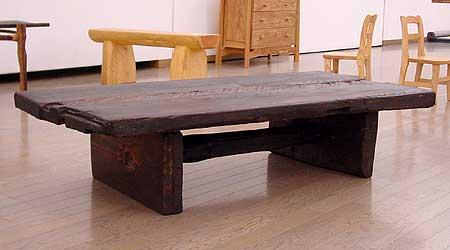 古材の座卓2