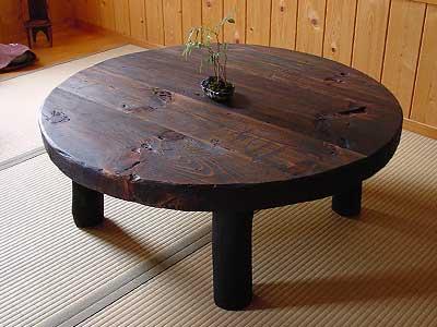古材の座卓3