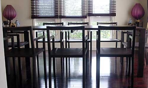 ウオルナットダイニングテーブルセット
